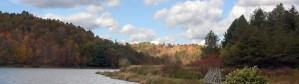 Mountain River In Fall