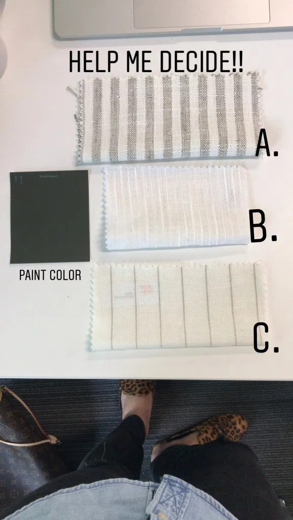 one room challenge 2019 window treatment selections