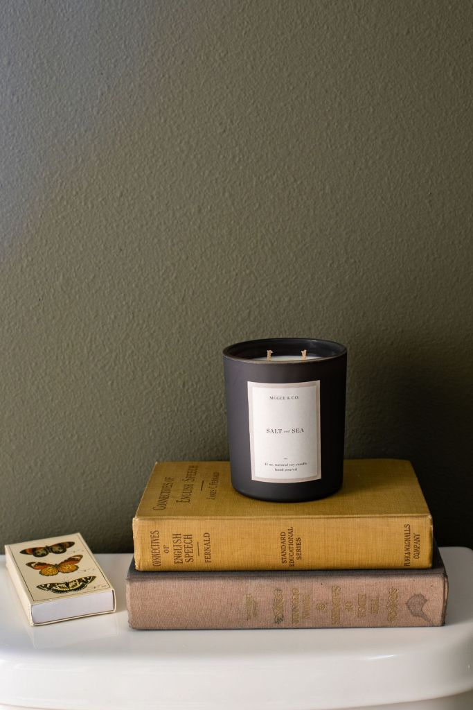 McGee and Co. Candle and Vintage books