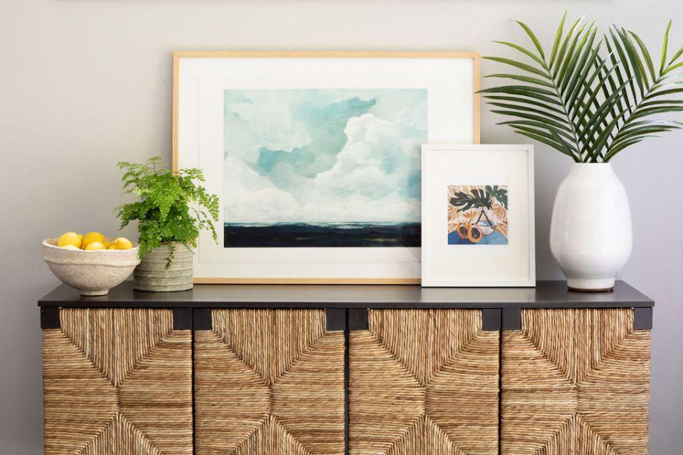 bellevue interior designer styled console table