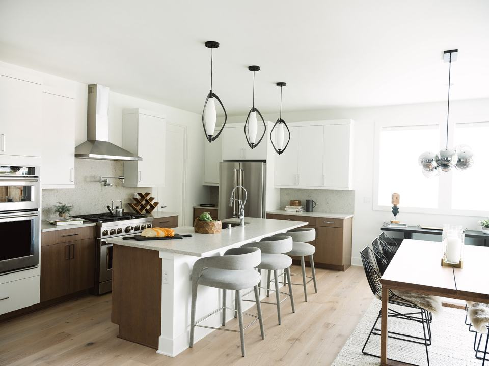 Trailside NW Modern kitchen and dining room