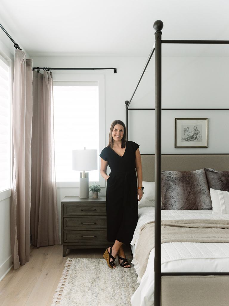Krissy Peterson of K. Peterson Design in NW Modern primary bedroom