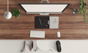 desk, modern, feminine