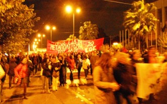 Demo i Athen 17.11.2012 - Aftenfoto KP