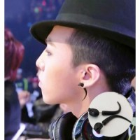 Bigbang G-dragon black ox horn earrings ear stud high ...