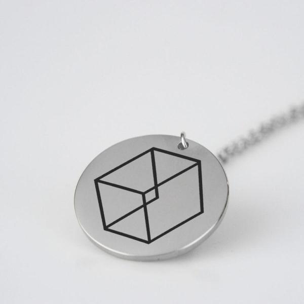 Engraved EXO Logo Charm Necklace