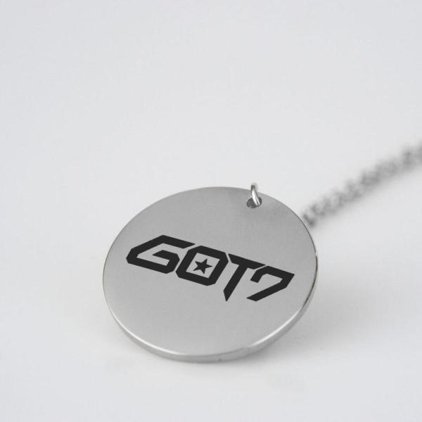 Engraved GOT7 Logo Charm Necklace