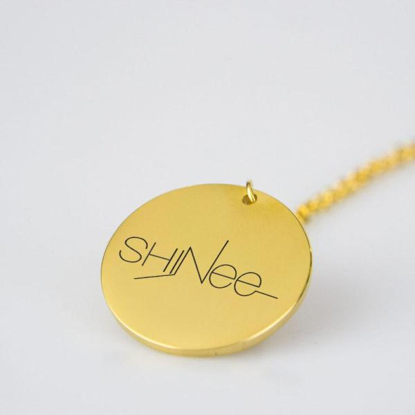 Engraved Shinee Logo Charm Necklace