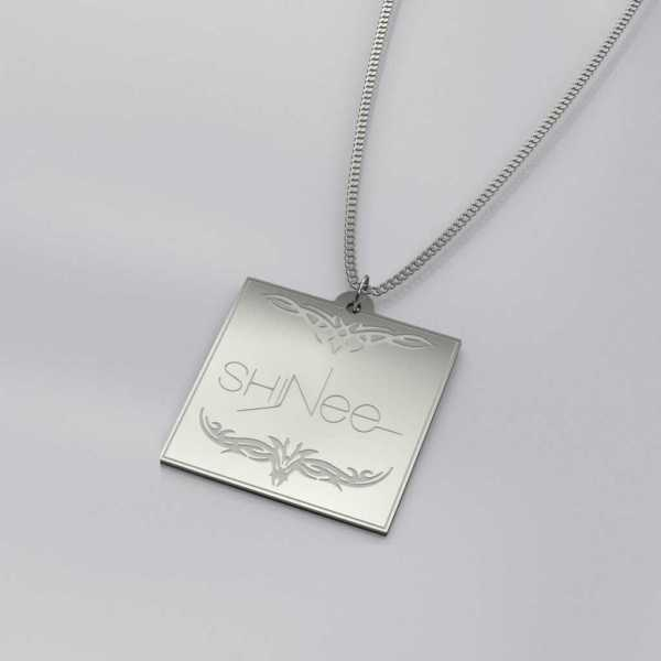Beautiful Shinee Engraved Charm Necklace