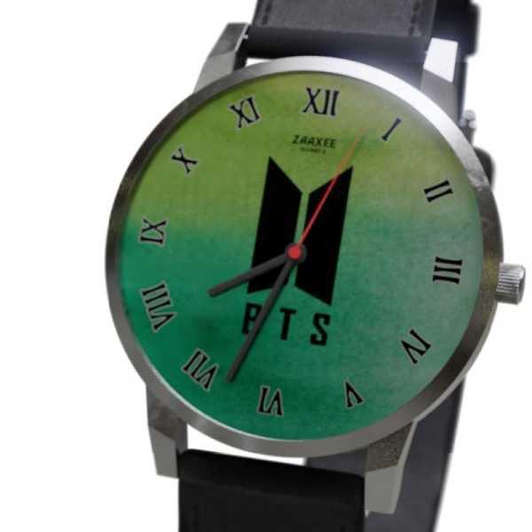 BTS Logo Green Quartz Watch