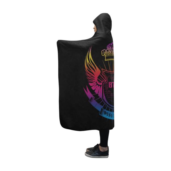 BTS Logo Color Shadow Hooded Blanket