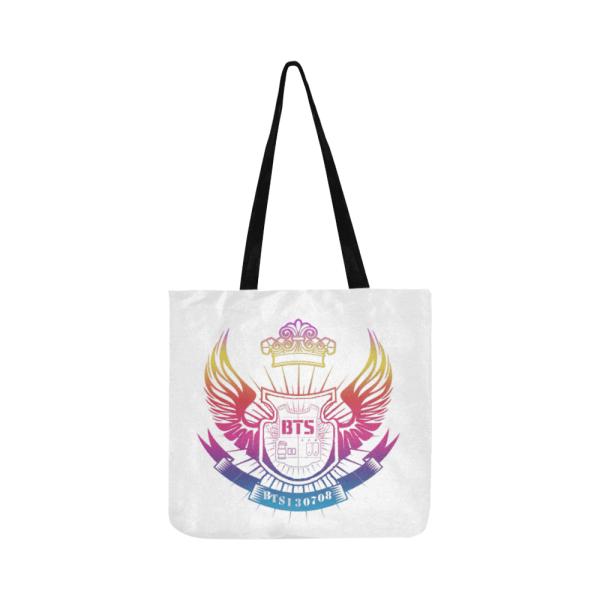 BTS Logo Colorful Tote Bag