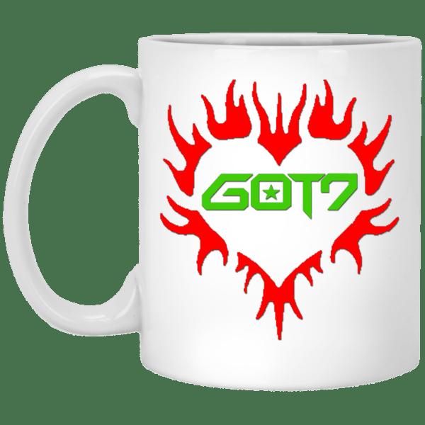 GOT7 Heart Logo White Mug