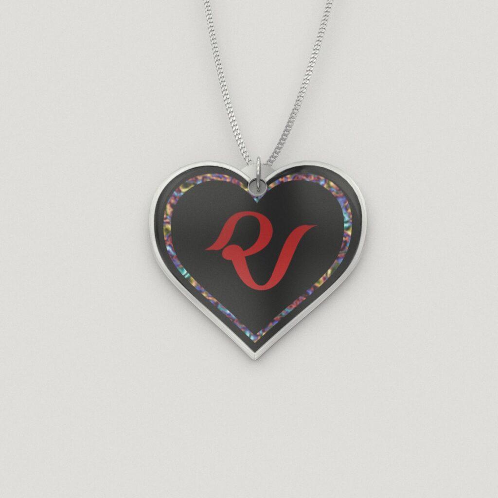 Red Velvet Heart Charm Necklace