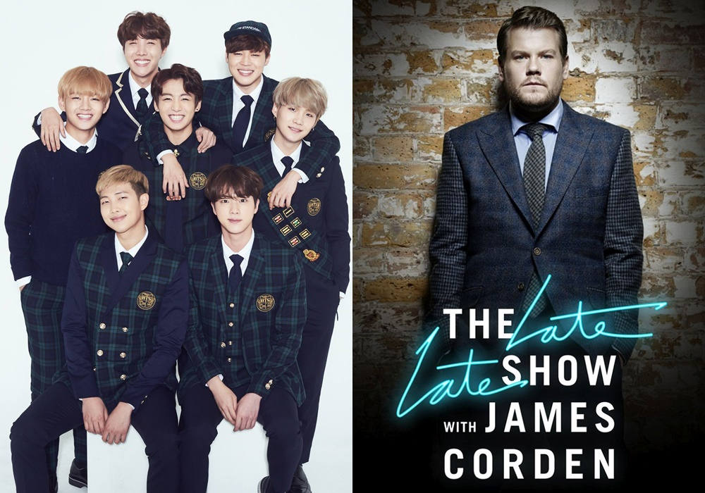 BTS Dikonfirmasi Akan Tampil di Program 'The Late Late Show With James Corden'