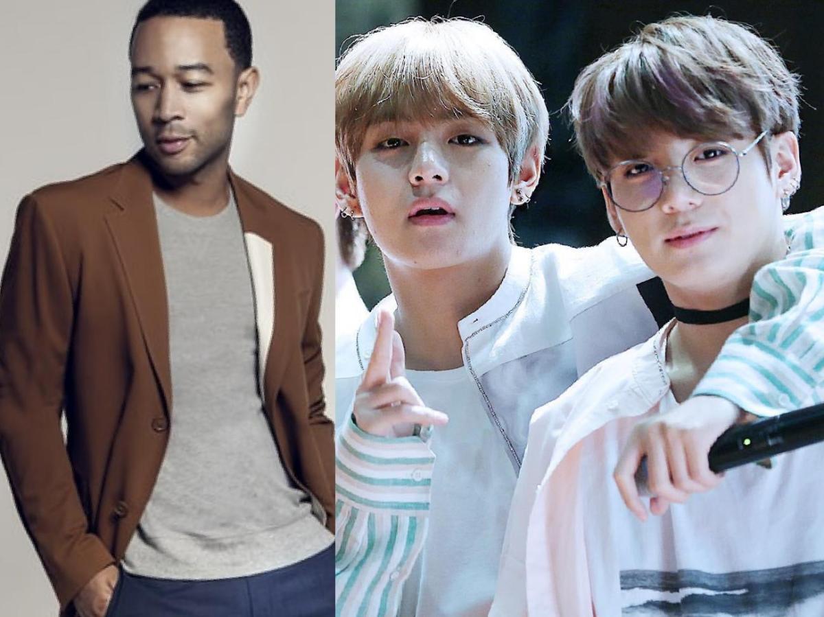 المغني الأمريكي جون ليجند يُعبر عن إعجابه بكوفر أغنيته 'All of Me' التي قام جونغكوك وV من BTS بغنائها!