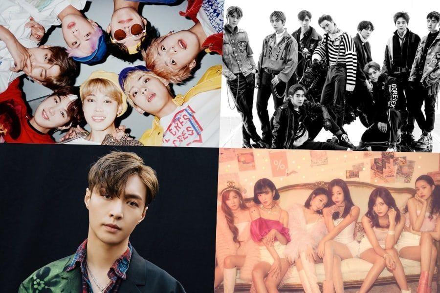 """BTS، EXO، لاي والمزيد يحتلون مراكز قوية في مخطط بيلبورد للألبومات العالمية + فرقة Apink تدخل المخطط مع ألبومها """"Percent"""""""
