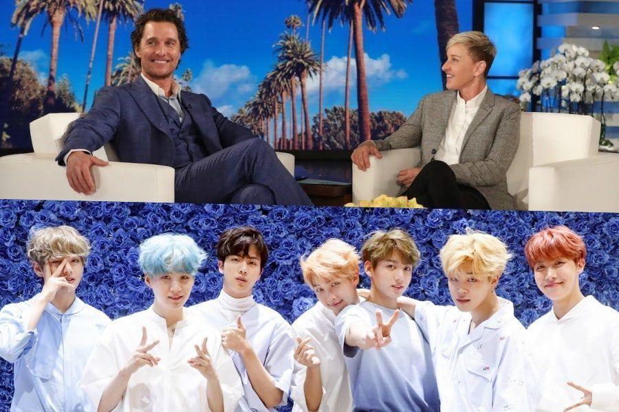 الممثل الأمريكي ماثيو ماكونهي يصف الوقت الرائع الذي قضاه مع عائلته في حفل BTS