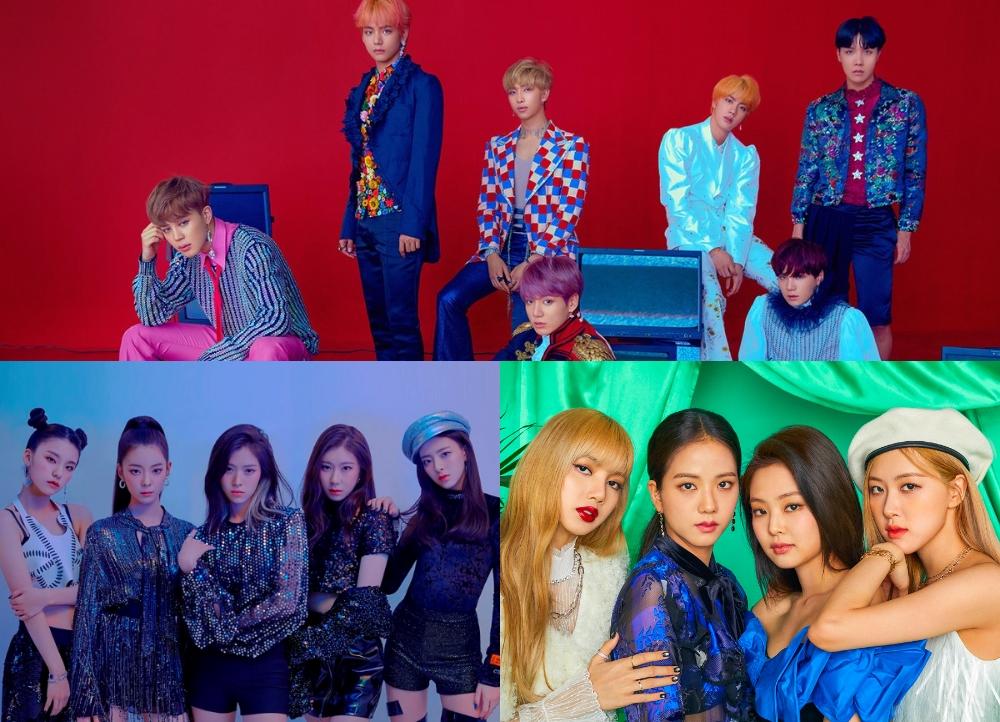 فرقة BTS، وBLACKPINK وITZY تتصدر قائمة قيمة العلامة التجارية لفرق البوب الكوري لشهر مارس