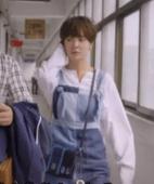 Sim Bo Nui (Hwang Jang Eum) - patchwork denim overalls