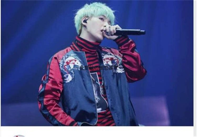 Kpop exo SUGA Bulletproof embroidery loose baseball hoodies women korea lovers Spring autumn Casual Harajuku k-pop 4Minute coat