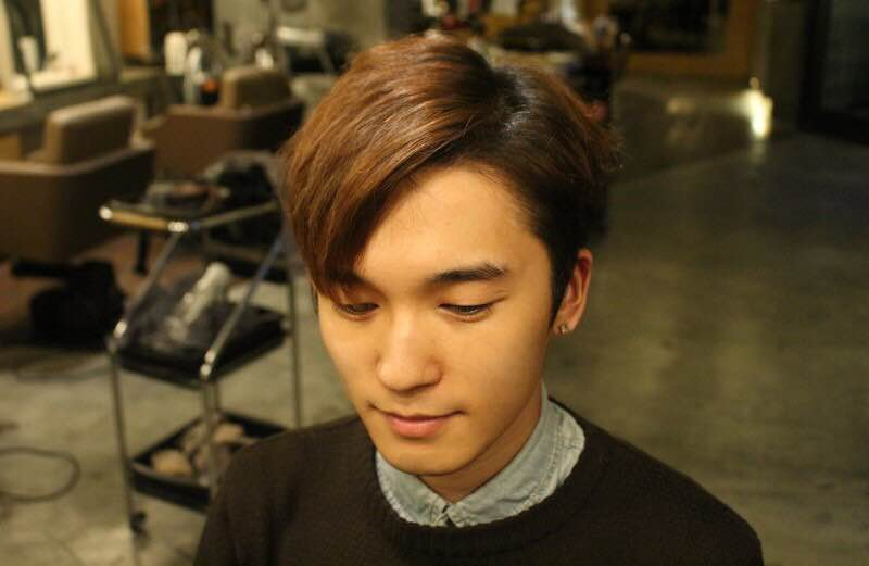 Yoo Seung Ho comma hair trend how to: drying hair finished