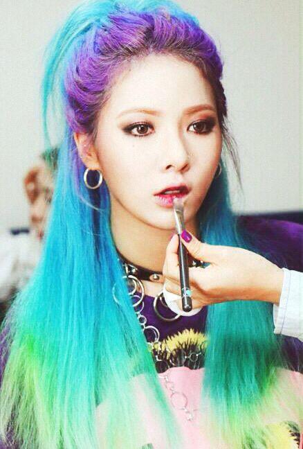 Craziest Hair Dyes Female Edition Kpop Korean Hair And