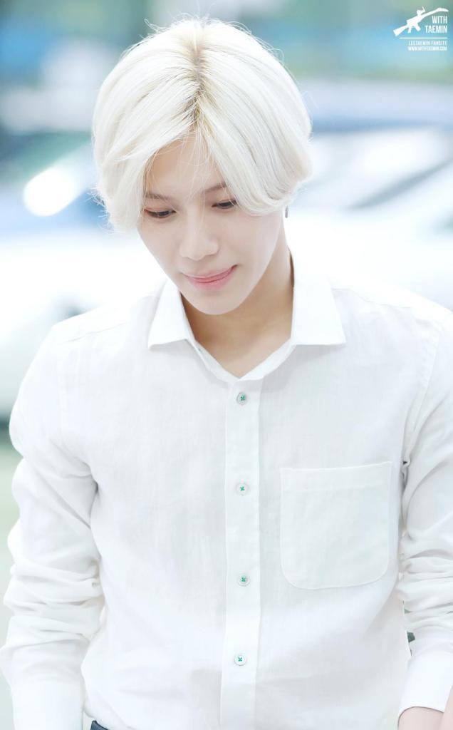 korea korean kpop idol boy band group SHINee taemin anime inspired white hairstyle color dyed hairstyles for guys kpopstuff
