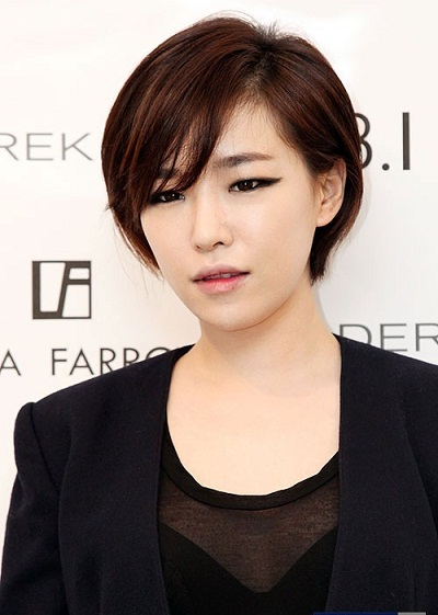 korean kpop idol girl group brown eyed girls gain short pixie cut haircut hairstyles for girls women kpopstuff