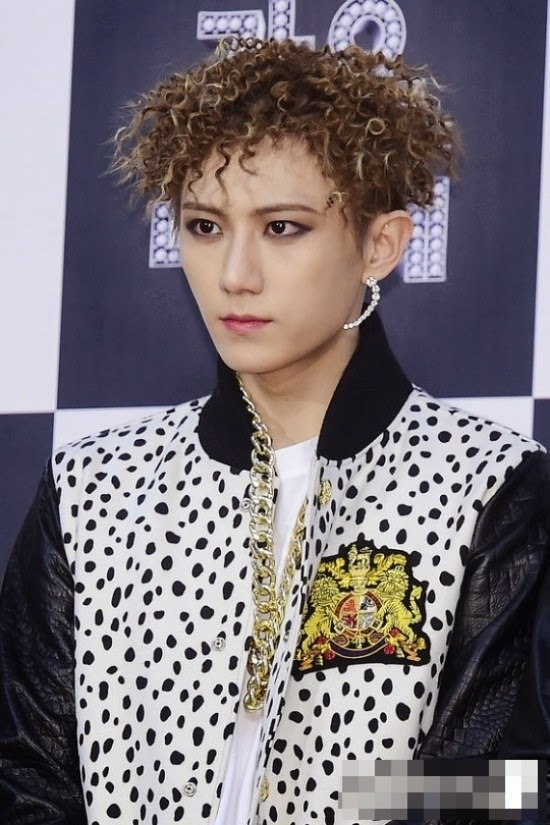 korean kpop idol boy band group b2st beast hyunseung curly hairstyles ramen hair for guys kpopstuff