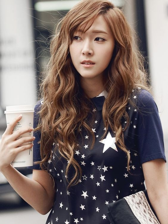 korea korean kpop idol girl group snsd girls generation tts jessica long wavy hair boho hippie hairstyles for girls kpopstuff