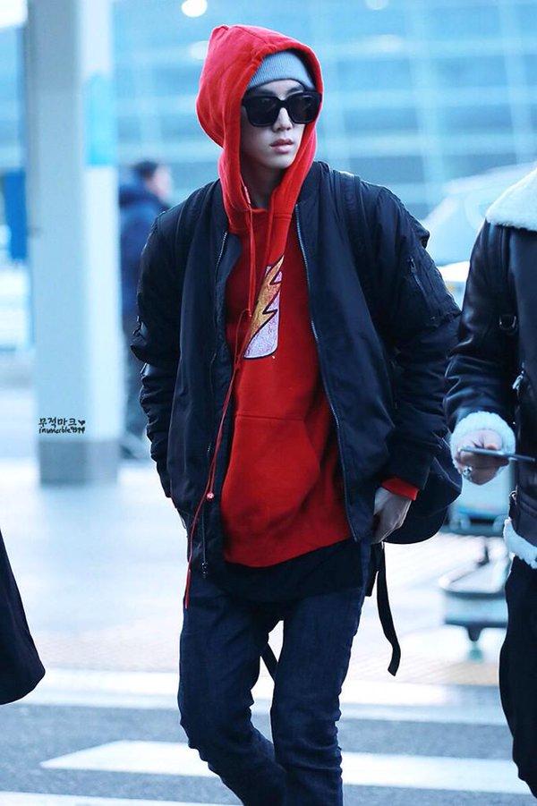 GOT7 MARKS AIRPORT FASHION Kpop Korean Hair And Style