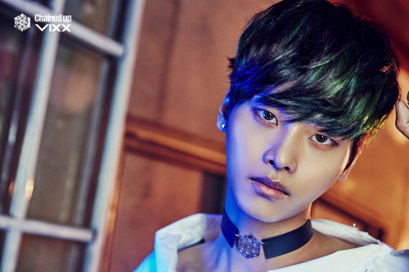 korea korean kpop idol boy band group vixx choker fashion chained up n black webbed chokers for guys kpopstuff