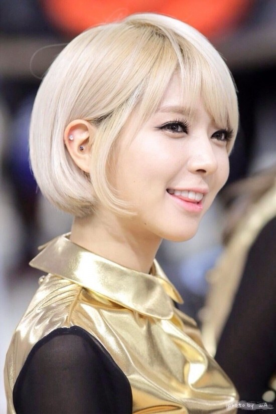 korea korean kdrama kpop idol girl group band FNC AOA Choa short bobbed haircut voluminous short bob hairstyles for girls kpopstuff