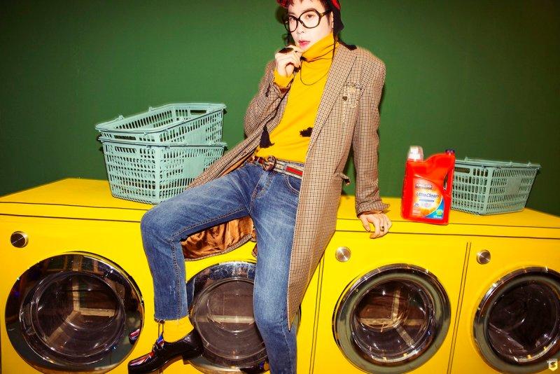 korea korean kpop idol boy band group block b yesterday retro kitsch faashion P.O clogs yellow turtlekneck coat styles outfit for guys kpopstuff