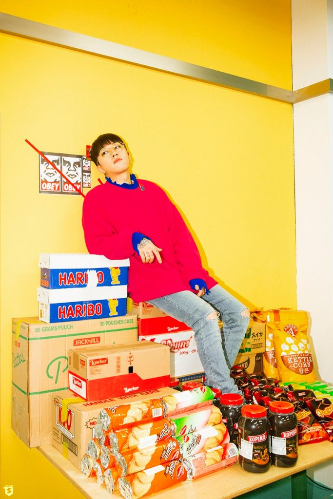 korea korean kpop idol boy band group block b yesterday retro kitsch fashion taeil comfy sweater red styles outfit for guys kpopstuff