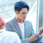 idols rock blue hair allkpop