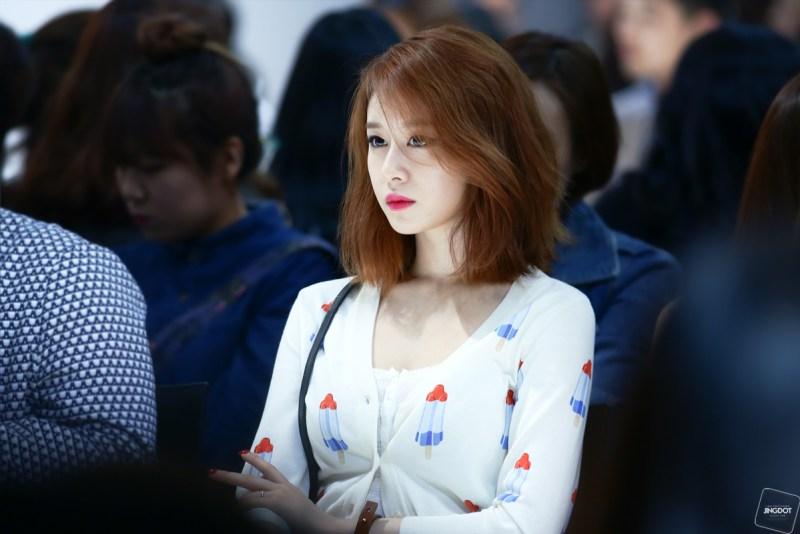 korea korean kpop idol girl group band tara t-ara jiyeon's lob hairstyle layered messy bob haircut hairstyles for girls kpopstuff