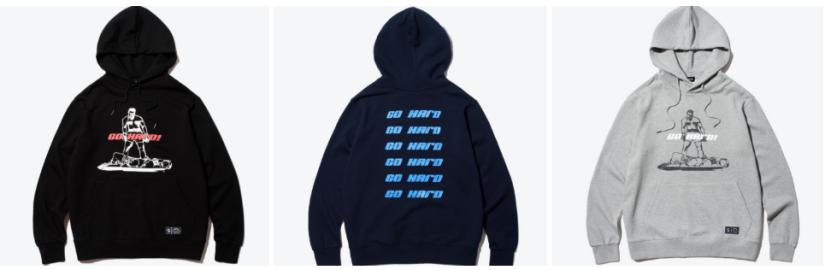 korea korean kpop idol boy band group Got7's hard carry hoodies grey blue black sweater fashion looks for guys kpopstuff shutter