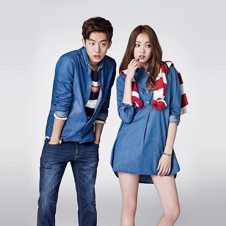 korea korean drama kdrama weightlifting fairy lee sung kyung & nam joo hyuk's couple looks casual denim fashion styles outfits guys girls kpopstuff