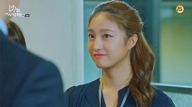 korea korean idol drama kdrama lovely love lie 'liar and his lover' lee ha eun's hair looks half updo hairstyles girls women office style kpopstuff