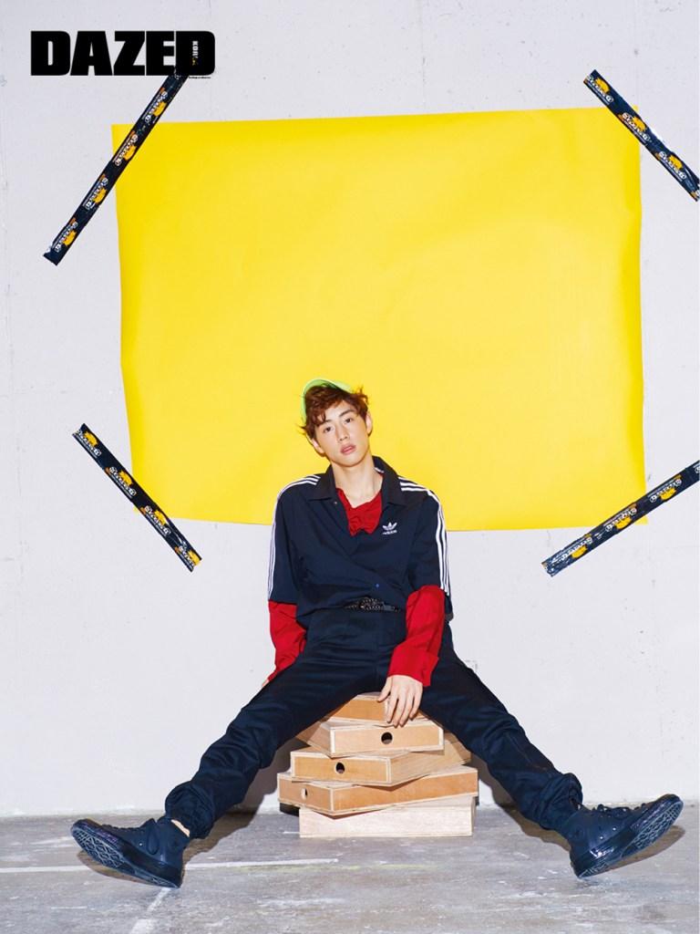 korea korean kpop idol boy band group got7 mark's dazed fashion bold colorful kitsch style sporty streetwear casual outfits style for guys kpopstuff