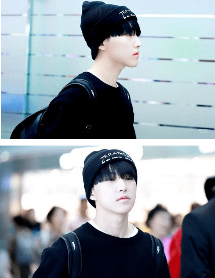 korea korean kpop idol boy band group seventeen hoshi's airport fashion all black knitwear outfit comfy streetwear casual style for guys men kpopstuff