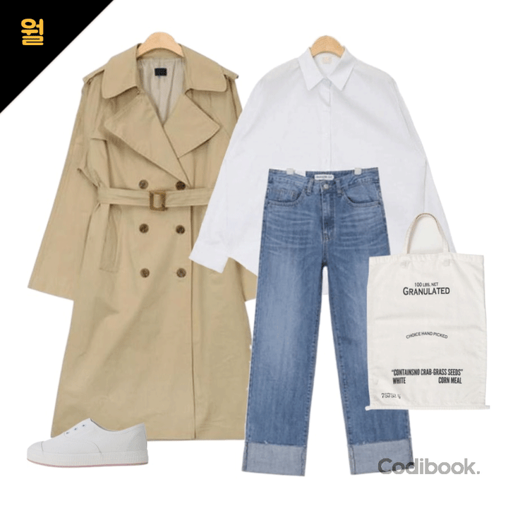 korea korean kpop idol girl group band kdrama actress streetwear fashion outfit ideas for april trench coat jeans white shirt casual style looks girls kpopstuff