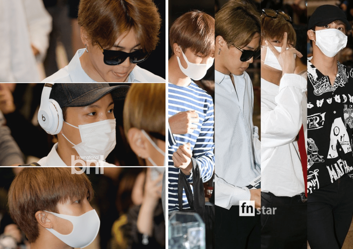 korea korean kpop idol boy band group BTS airport looks fashion bangtan boys jimin v taehyung jin rapmon jungkook fashion guys men kpopstuff main