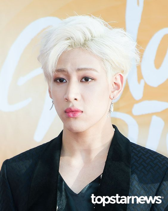 korea korean kpop idol boy band group got7 bambam's blonde hair never ever platinum hair colors dye hairstyles guys men kpopstuff