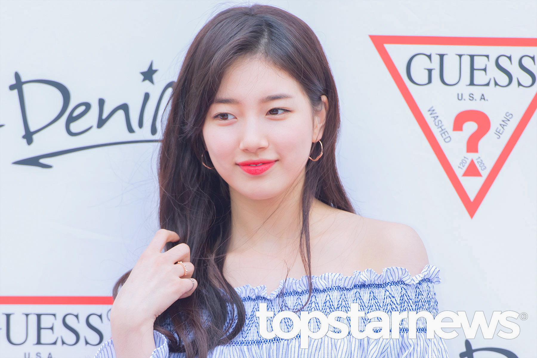 korea korean kpop idol girl group band miss a suzy's spring outfit for guess sign event off the shoulder girly date fashion style girls women kpopstuff main