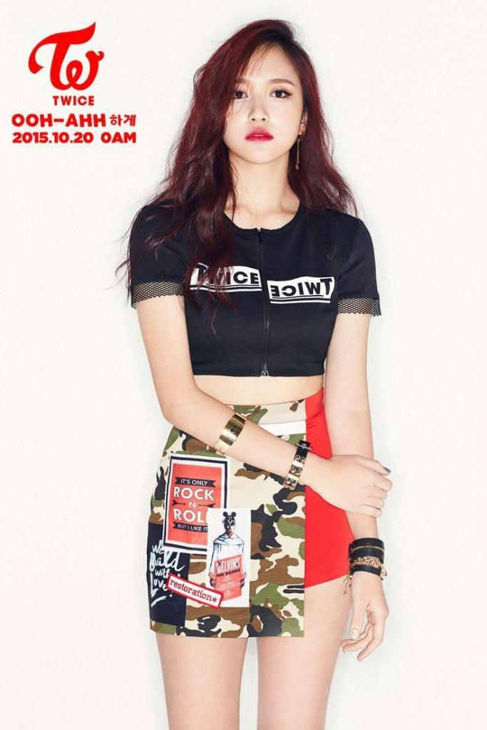korea korean kpop idol girl group band twice mina's hair timeline ooh ah red dyed hair color dye hairstyles girls women kpopstuff