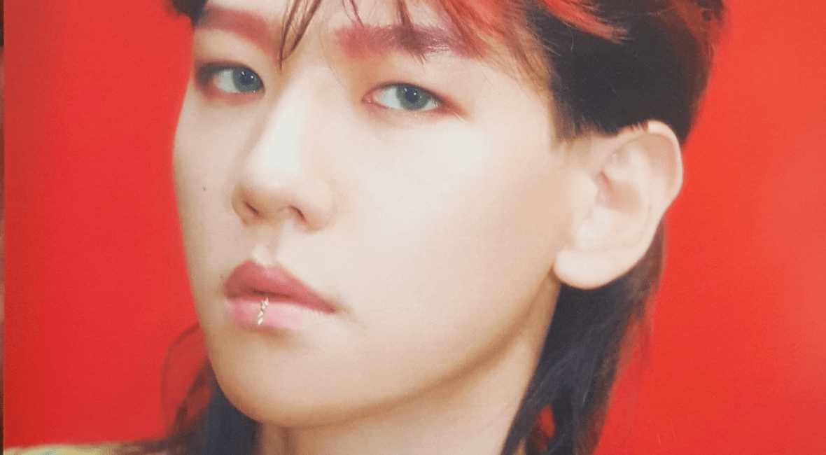 Exo baekhyun ko ko bop teaser mullet long hair Asian men Korean kpop idol hairstyles haircut style