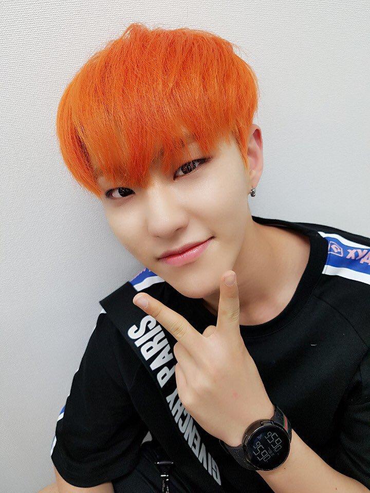 seventeens orange hair colors kpop korean hair and style